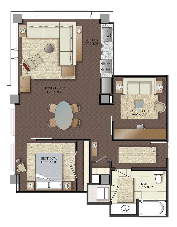 the cobb apartments seattle floor plans the cobb rh cobbapartments com one bedroom with den apartments one bedroom with den apartments